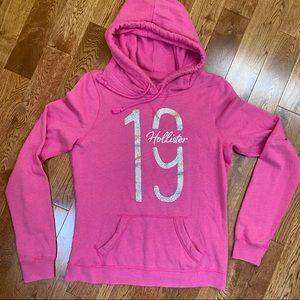 Pink Hollister hoodie . Gray Glitter 19
